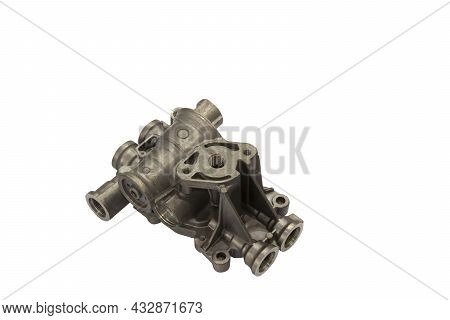 Aluminium Die Casting Product  With Machining Process ; Industrial Background ; Clipping Mask ; Isol