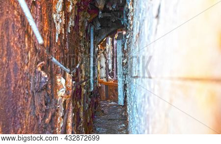 Inside An Old Rusty Shipwreck In Iceland, Northwest Iceland