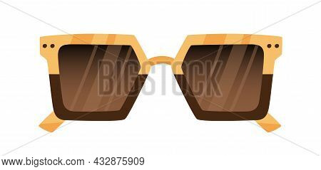 Fashion Sunglasses With Two-color Frame. Trendy Stylish Retro Oversized Sun Glasses With Plastic And