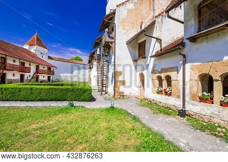 Harman, Fortified Saxon Church In Medieval Transylvania, Romania.