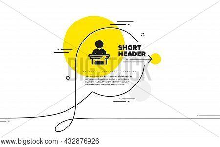 Election Candidate Simple Icon. Continuous Line Chat Bubble Banner. Public Voting Sign. Politics Cam