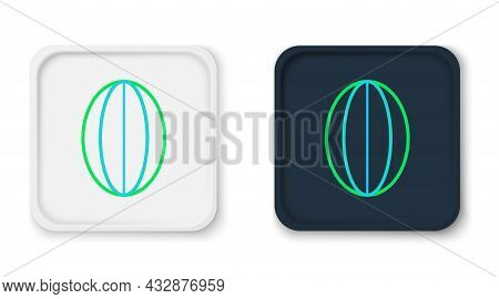 Line Rugby Ball Icon Isolated On White Background. Colorful Outline Concept. Vector