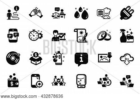 Vector Set Of Business Icons Related To Remove Team, Post Package And Download Photo Icons. Water Dr
