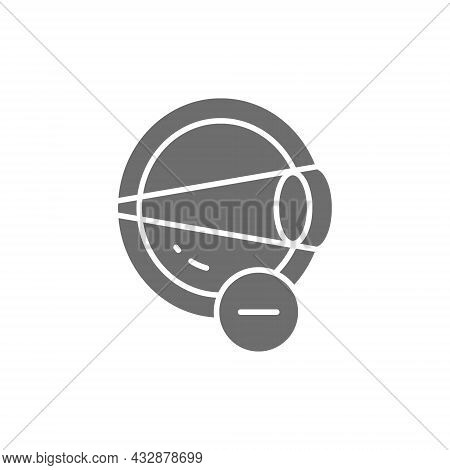 Vector Myopia, Eye Disease, Astigmatism Grey Icon.