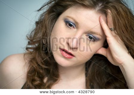 Emotionally Stressed Woman Looking Upset And Depressed