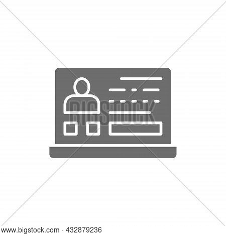Resume, Application Form With Profile Photo, Employee Profile Grey Icon.