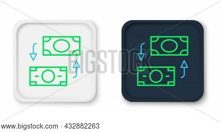 Line Money Exchange Icon Isolated On White Background. Cash Transfer Symbol. Banking Currency Sign.