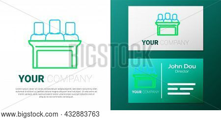 Line Jurors Icon Isolated On White Background. Colorful Outline Concept. Vector