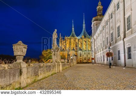 St Barbara church in town Kutna Hora - Czech Republic - travel and architecture background