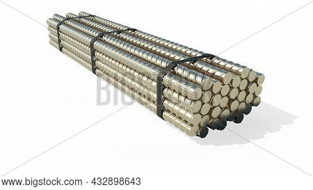 Big Rebar Pack - Isolated Cgi Industrial 3d Illustration