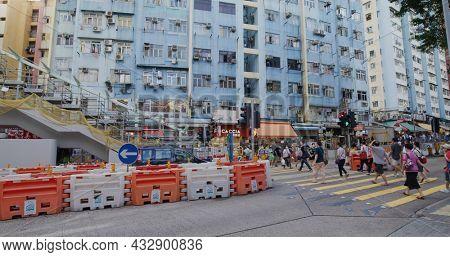 Kwun Tong, Hong Kong 27 May 2021: Hong Kong residential district