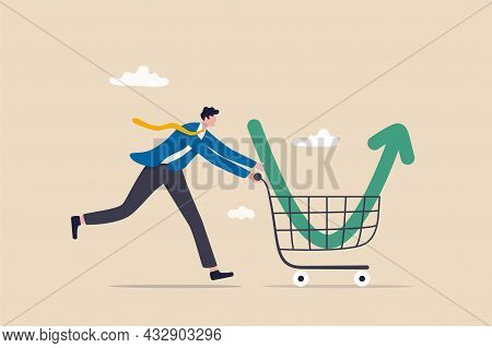 Buy On The Dip, Purchase Stock When Price Drop, Trader Signal To Invest, Make Profit From Market Col