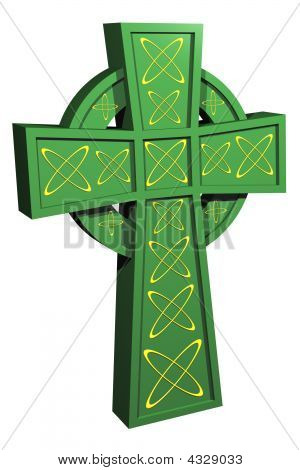 Isolated Celtic Cross, 3D Rendered