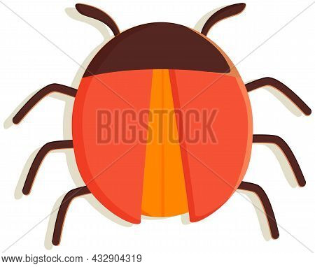 Computer Bug Flat Vector Icon. Sign For Mobile Concept And Web Design. Software Virus Simple Logo Il