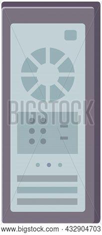 Network Servers Computer Hardware Technology Vector Illustration. System Unit Symbol Cpu Processor W