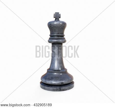Chess Queen On A White Background. 3d Render