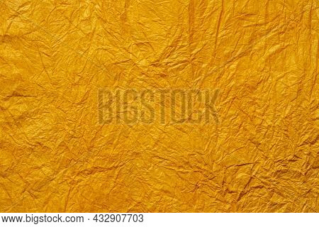 Japanese Abstract Paper Texture Orange. Close Up.