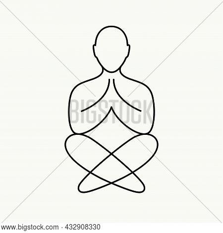 Abstract Minimalistic Logo For A Yoga Studio.