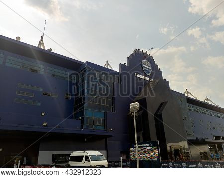 Chang Arena Buriram Thailand-27 March  2021:chang Arena Unofficial Name Thunder Castle Stadium Is A
