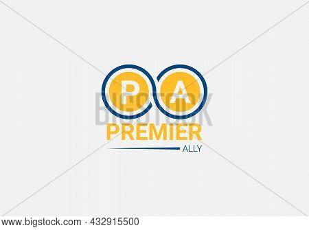 Premier Ally Abstract P A Letter Modern Lettermarks Logo Design