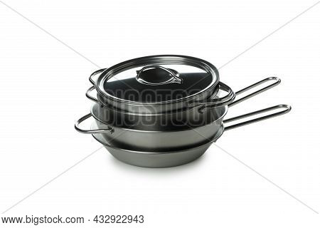 Different Cookware Isolated On A White Background