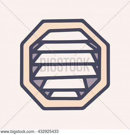 Ventilation Grill Color Vector Doodle Simple Icon