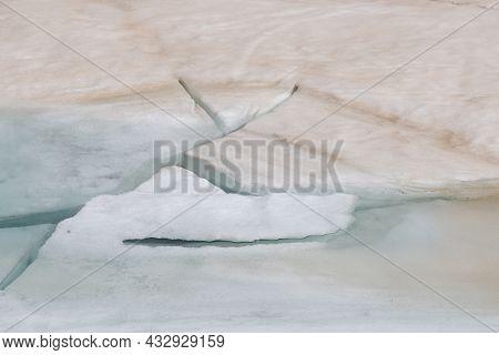 Photo Of Broken Ice Of Lago Smeraldo In The Pass Of Mount Moro, Valle Anzasca, Italian Alps