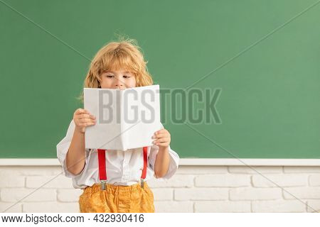 Teen Boy In Classroom. Back To School. Knowledge Day. Concept Of Education.