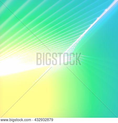 Twisted Lines Geometric Elegant Multi Colored Background. Modern Creative Template Design. 3d Render