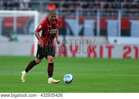 Milano, Italy. 12 September 2021. Theo Hernandez Of Ac Milan  During The Serie A Match Between Ac Mi