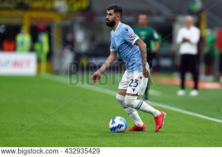 Milano, Italy. 12 September 2021. Elseid Hysaj Of Ss Lazio  During The Serie A Match Between Ac Mila