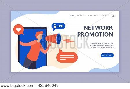 Marketing Network Promotion. Digital Advertising Of New Business Projects And Customer Acquisition.
