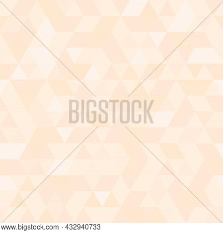 Geometric Vector Pattern With Light Pink Triangles. Geometric Modern Ornament. Seamless Abstract Bac