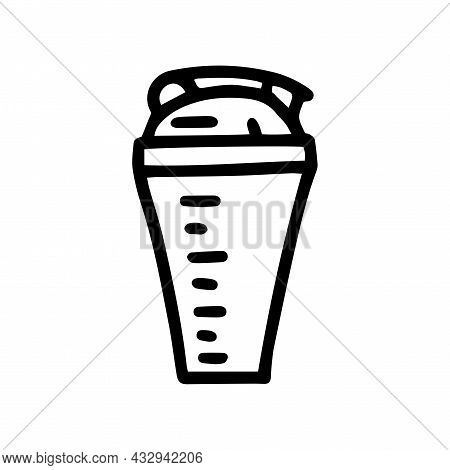 Sport Shaker Line Vector Doodle Simple Icon