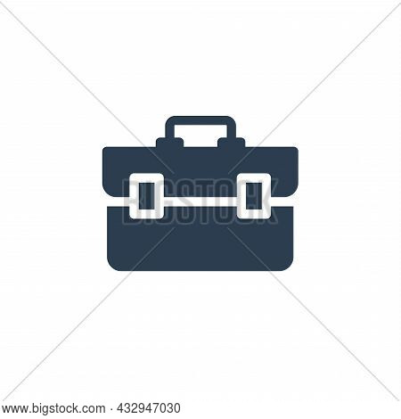 Toolbox Solid Flat Icon. Vector Glyph Illustration