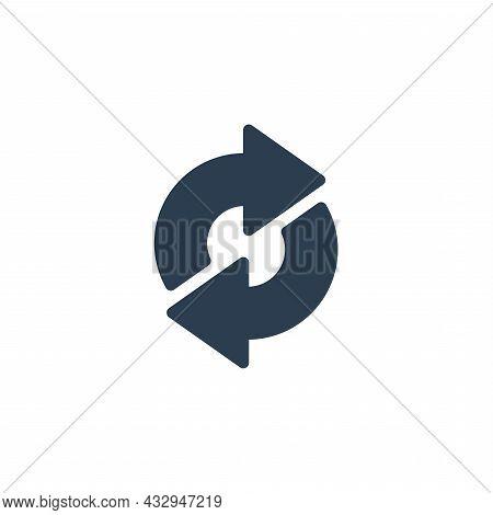Refresh Arrows, Sync, Exchange Solid Flat Icon. Vector Illustration