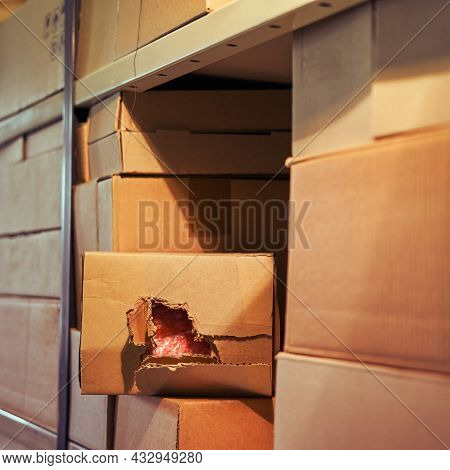 Stealing Parcels And Damaging The Packaging Of Goods In The Warehouse. Stealing And Problems With Th