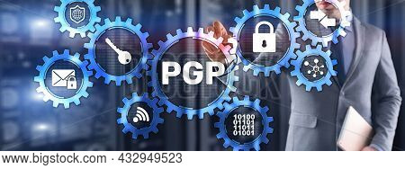 Pgp. Pretty Good Privacy. Encryption And Security Concept 2021