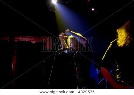 Rock-singer At Live Concert