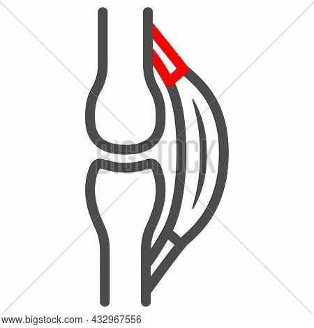 Stretched Tendon Line Icon, Body Pain Concept, Strain Vector Sign On White Background, Outline Style