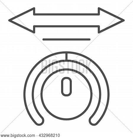 Sound Balance With Arrow Thin Line Icon, Sound Design Concept, Audio Volume Balance Vector Sign On W