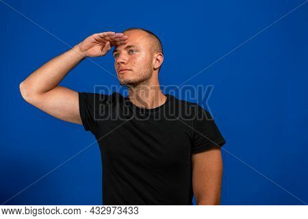 Young Man Greeting The Camera With A Military Salute In An Act Of Honor And Patriotism, Showing Resp