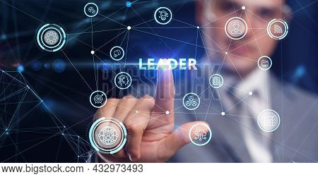 Successful Team Leader.  Business Leadership Concepts. A Successful Team Leader Is A Manager Market