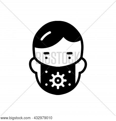 Black Solid Icon For Preserve Mask People Conserve Defend Keep Perpetuate Face-mask Protect Safeguar