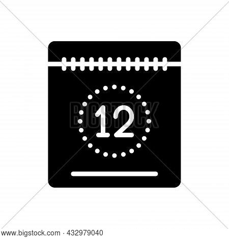 Black Solid Icon For Today This-day Date Calendar Countdown Day Timetable Appointment Valuating