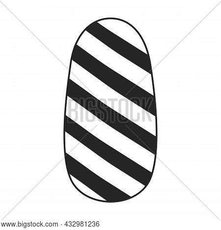Nail Of Manicure Vector Icon.black Vector Icon Isolated On White Background Nail Of Manicure.