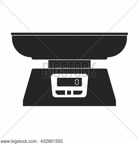Electronic Balance Vector Icon.black Vector Icon Isolated On White Background Electronic Balance.