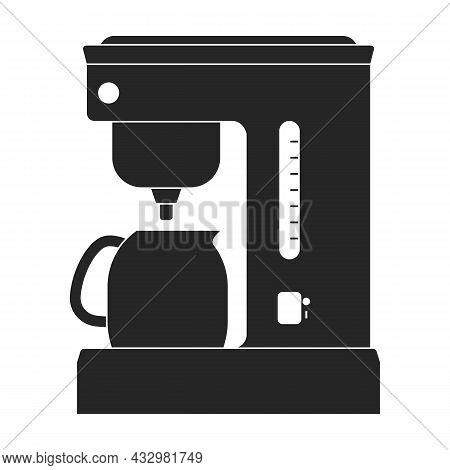 Coffee Maker Vector Icon.black Vector Icon Isolated On White Background Coffee Maker.