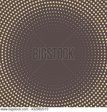 Geometric Modern Pattern. Fine Ornament With Golden Dotted Elements. Geometric Abstract Pattern