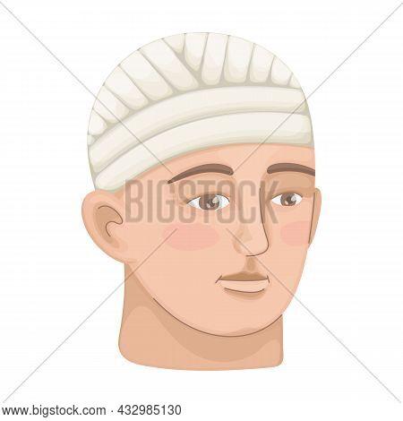 Bandage Vector Cartoon Icon. Vector Illustration Band On White Background. Isolated Cartoon Illustra